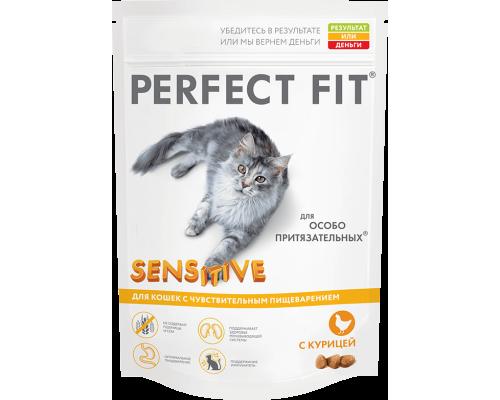 Perfect Fit Sensitive сухой корм для кошек с чувствительным пищеварением курица (Перфект Фит)