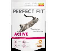 Perfect Fit Active сухой корм для активных кошек с курицей (Перфект Фит)