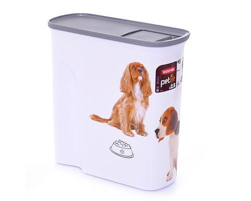 """Curver PetLife Контейнер для корма """"Собачье счастье"""" большой на 6 л, 28x12x28 см"""