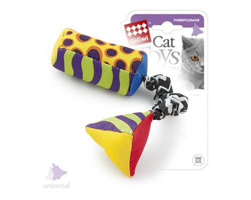 GiGwi Игрушка для кошек Тканевая дразнилка с кошачей мятой