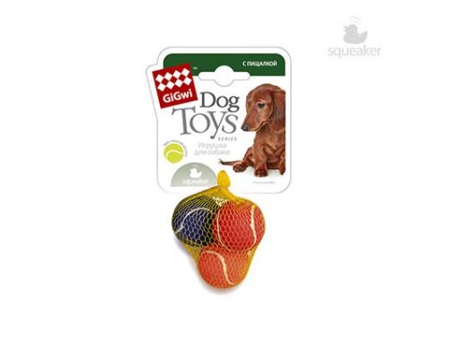 GiGwi Игрушка для собак 3 мяча с пищалкой Маленькие