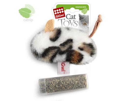 GiGwi Мышь с пластиковым контейнером кошачей мяты