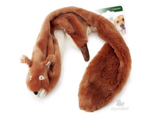 GiGwi Игрушка для собак Большая шкурка белки с пищалками 93 см