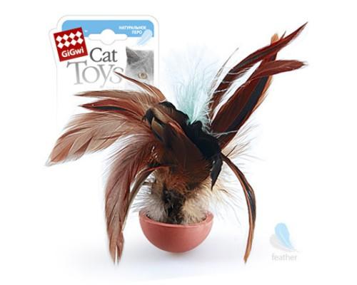 GiGwi Неваляшка с перьями