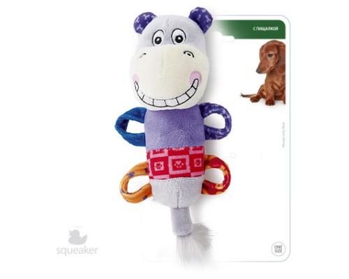 GiGwi Игрушка для собак Бегемотик с пищалкой 20 см