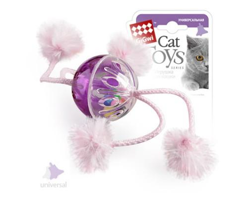 GiGwi Игрушка для кошек Мячик пластмассовый с погремушкой