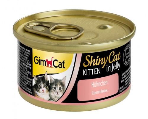 Gimcat Shiny Cat Kitten Шани Киттен консервы для КОТЯТ Цыпленок (Джимпет)