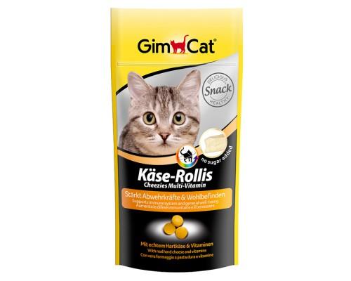 """Gimcat Лакомство витаминизированное """"Сырные ролики"""" Мультивитамин для кошек (Джимпет)"""