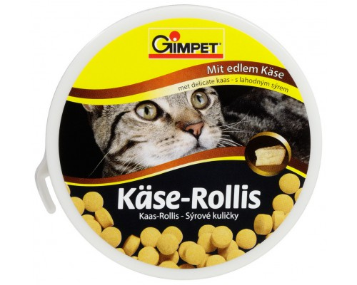 """Gimcat Лакомство витаминизированное """"Сырные ролики""""для кошек (кор.) 100шт (Джимпет)"""
