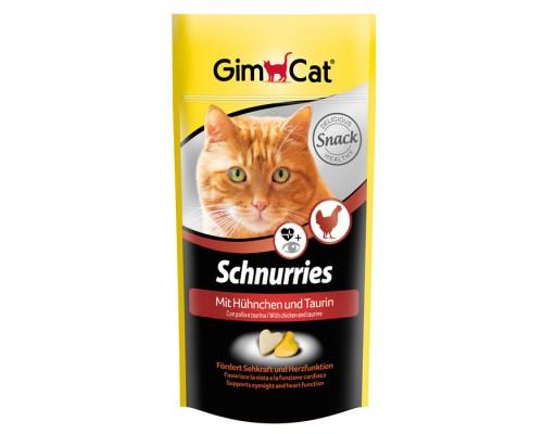 """Gimcat Лакомство витаминизированное """"Сердечки"""" с курицей и таурином для кошек (Джимпет)"""