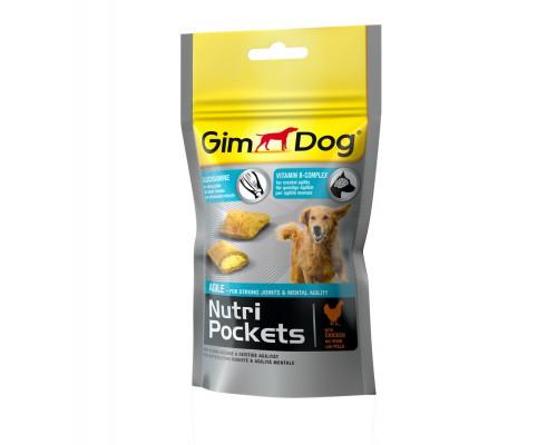 Gimdog Подушечки Нутри Покетс Эджайл с глюкозамином и витаминами группы В для собак (Джимпет)