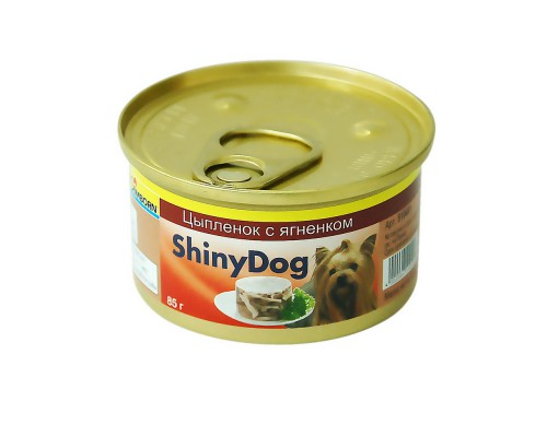 Gimborn ShinyDog Шани Дог консервы для собак Цыпленок с ягненком (Джимпет)