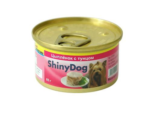 Gimborn ShinyDog Шани Дог консервы для собак Тунец с цыпленком (Джимпет)