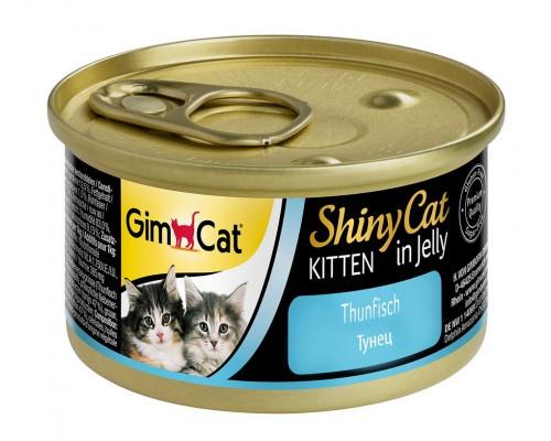Gimcat Shiny Cat Kitten Шани Киттен консервы для КОТЯТ Тунец (Джимпет)
