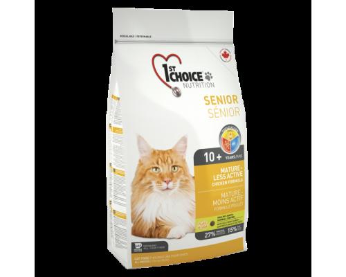 1ST CHOICE Для пожилых кошек с цыпленком (Фест Чойс Mature or less active). Вес: 350 г