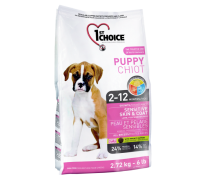 1ST CHOICE Для щенков всех пород чувствительная кожа и шерсть с ягнёнком, рыбой и коричневым рисом (Фест Чойс Puppy Sensitive Skin&Coat). Вес: 2,72 кг