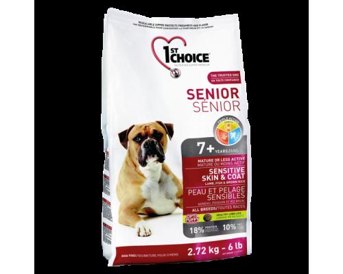 1ST CHOICE Для пожилых собак Ягненок/Рыба/Рис (Фест Чойс Senior Sensitive Skin&Coat). Вес: 2,72 кг