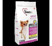 1ST CHOICE для собак декоративных и мелких пород Ягненок, рыба (Фест Чойс Adult Toy & Small Breeds Skin&Coat). Вес: 350 г