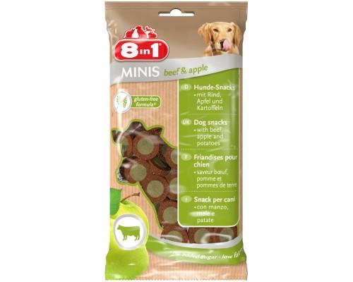 8in1 Лакомство для собак Минис Говядина и яблоко, с картофелем. Вес: 100 г