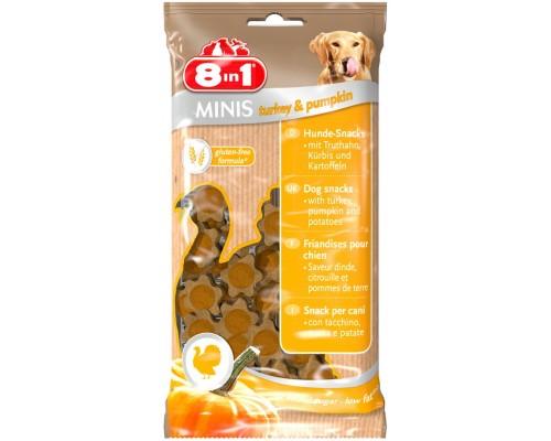 8in1 Лакомство для собак Минис Индейка и тыква, с картофелем. Вес: 100 г