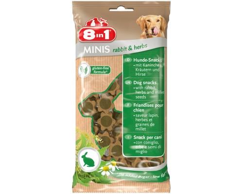 8in1 Лакомство для собак Минис Кролик и травы, с просом. Вес: 100 г