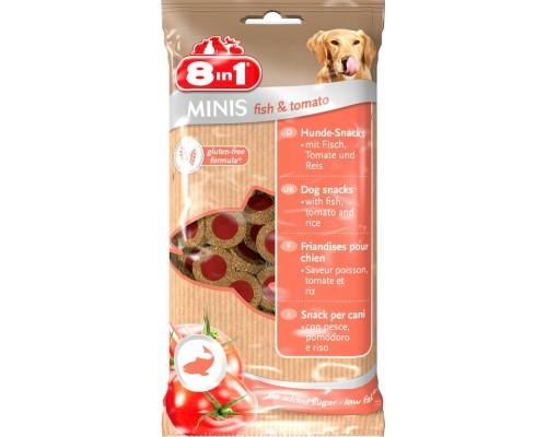 8in1 Лакомство для собак Минис Рыба и помидоры, с рисом. Вес: 100 г