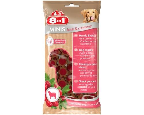 8in1 Лакомство для собак Минис Ягненок и клюква, с картофелем. Вес: 100 г