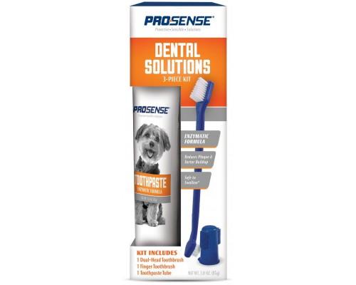 8in1 Набор Pro-Sense для ухода за зубами собак, 3 предмета.