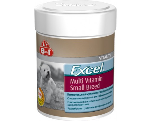 8in1 Эксель Мультивитамины для собак мелких пород (Excel Multi Vitamin Small Breed) : 70 таб