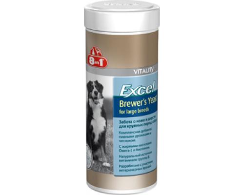 8in1 Эксель Пивные дрожжи, для собак крупных пород (Excel Brewer's Yeast for large breed) : 80 таб