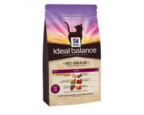 Hills Ideal Balance Feline Adult NO GRAIN with Fresh Chicken and Potato сухой корм для кошек беззерновой курица/картофель (Хиллс). Вес: 300 г