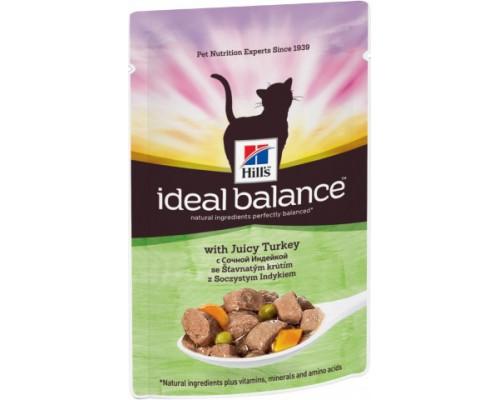 Hills Ideal Balance Feline Adult пауч для кошек от 1 года до 7 лет Индейка/Овощи (Хиллс). Вес: 85 г