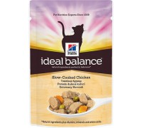 Hills Ideal Balance Feline Adult пауч для кошек от 1 года до 7 лет Курица/Овощи (Хиллс). Вес: 85 г