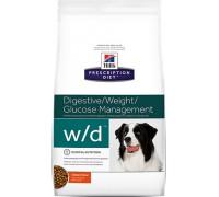 Hill's Presсription Diet Canine w/d with Chicken сухой корм для собак W/D профилактика сахарного диабета, запоров, колитов