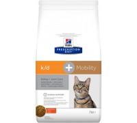 Hills Presсription Diet Feline k/d + Mobility сухой корм для кошек для поддержания здоровья почек и суставов одновременно (Хиллс). Вес: 2 кг
