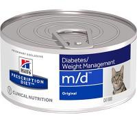 Hills Presсription Diet Feline m/d Minced with Liver консервы для кошек M/D профилактика сахарного диабета (Хиллс). Вес: 156 г