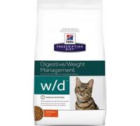 Hills Presсription Diet Feline w/d сухой корм для кошек W/D профилактика сахарного диабета, запоров, колитов (Хиллс). Веc: 1,5 кг