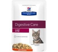 Hills Presсription Diet i/d Feline Кусочки в соусе с Курицей пауч для кошек I/D профилактика заболеваний ЖКТ (Хиллс). Вес: 85 г