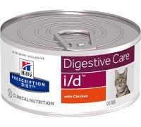 Hills Presсription Diet i/d Feline Фарш с курицей консервы для кошек I/D профилактика заболеваний ЖКТ (Хиллс). Вес: 156 г