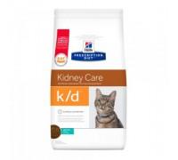 Hills Presсription Diet k/d Feline Original сухой корм для кошек K/D лечение заболеваний почек, МКБ Тунец (оксалаты, ураты) (Хиллс). Вес: 400 г