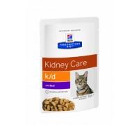 Hill's Presсription Diet k/d Feline с говядиной пауч для кошек K/D профилактика заболеваний почек Говядина
