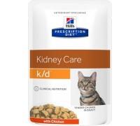 Hill's Presсription Diet k/d Feline с курицей пауч для кошек K/D профилактика заболеваний почек