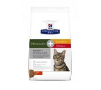 Hills Presсription Diet Metabolic+Urinary Stress диетический корм для взрослых кошек, поддерживает здоровье нижних мочевыводящих путей, в том числе при ИЦК (идиопатическом цистите кошек), вызванном стрессом (Хиллс). Вес: 1,5 кг