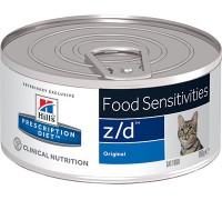 Hills Presсription Diet z/d Feline ULTRA Allergen-Free консервы для кошек Z/D профилактика острых пищевых аллергий (Хиллс). Вес: 156 г