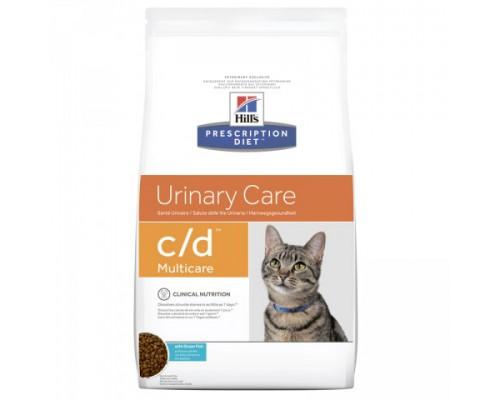 Hills Presсription Diet c/d Multicare Feline с океанической рыбой сухой корм для кошек C/D профилактика МКБ струвиты (Хиллс). Вес: 1,5 кг