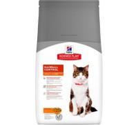 Hills Science Plan Feline Adult Hairball Control Chicken сухой корм для кошек Хаербол контроль вывод шерсти из желудка (Хиллс). Вес: 300 г