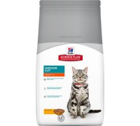 Hills Science Plan Feline Adult Indoor Cat Chicken сухой корм для кошек Индор живущие в помещении (Хиллс). Вес: 300 г
