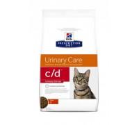Hills Presсription Diet c/d Urinary Stress Курица сухой корм для кошек C/D профилактика МКБ при стрессе (Хиллс). Вес: 400 г