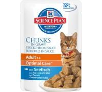 Hills Science Plan Feline Adult с Океанической рыбой Пауч для взрослых кошек (Хиллс). Вес: 85 г