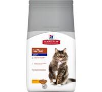 Hills Science Plan Feline Mature Adult 7+ Hairball Control Chicken сухой корм для кошек старше 7 лет для выведения шерсти из желудка (Хиллс). Вес: 1,5 кг